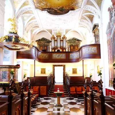 Beautiful Danish chapel interior.